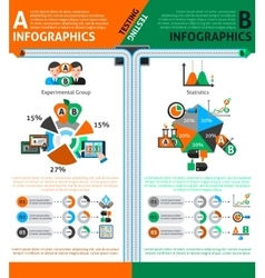 A-b testing infographics set vector