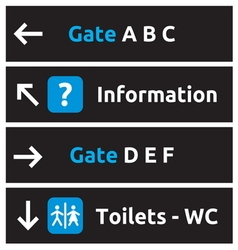 Aeroport signs and symbols1 vector image