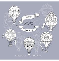 Air balloons backgr-15 vector