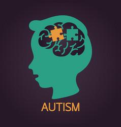Autism icon vector