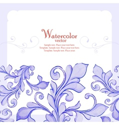 Barocco watercolor lace ornament vector image vector image
