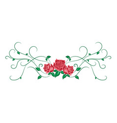 Beautiful vintage pattern with red roses in vector