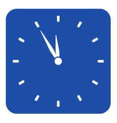 blue white sign - last minute clock icon vector image