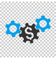 Business gears icon vector