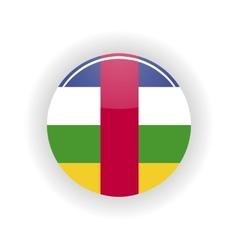 Central african republic icon circle vector