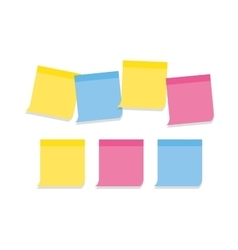 Collection of memo note-papers in various colors vector
