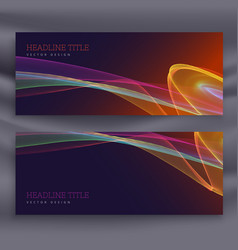 Colorful horizontal banner template vector