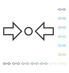Compress horizontal icon vector