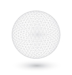 Connection spirograph wired ball isolated vector