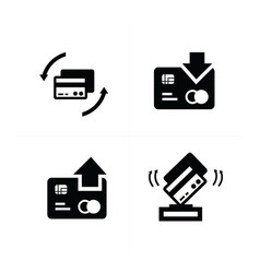 Credit card with arrow icon vector