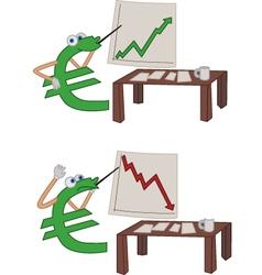 Euro crisis vector image vector image