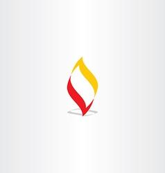 fire logo flame element design vector image vector image