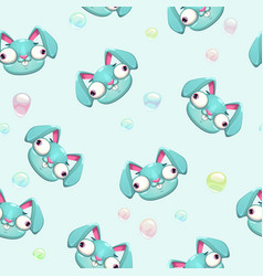 funny childish seamless pattern vector image