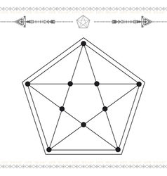 geometric icon magic 2Black vector image