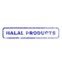 Halal products rubber stamp vector