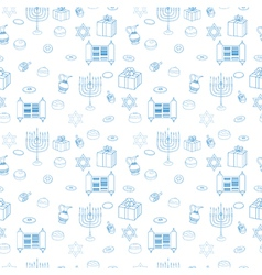 Happy Hanukkah Holiday Seamless Pattern Background vector image vector image