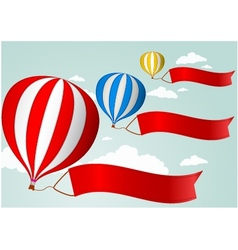 Hot air balloon in the sky vector image