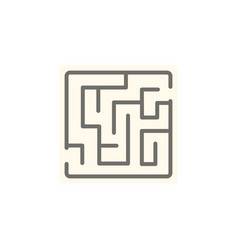 Isolated maze flat icon labyrinth element vector