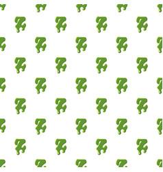Letter z made of green slime vector