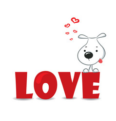 Love dog vector image vector image