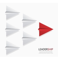 modern concept leadership background vector image