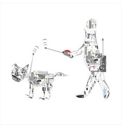 Pet Wirelss Control vector image vector image