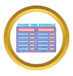 Schedule time of trains icon vector