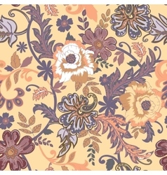Seamless floral background Isolated beige flowers vector image vector image