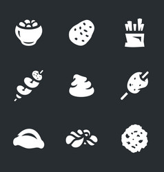 set of potato icons vector image