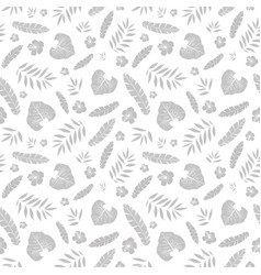 Silver grey tropical summer hawaiian vector