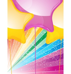 star shaped balloons and starburst vector image