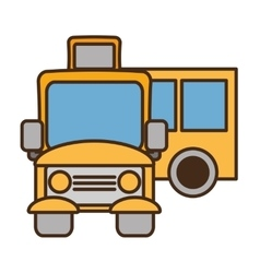 drawing yellow school bus transport pupils vector image