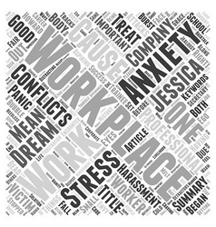 Conflicts in the workplace word cloud concept vector