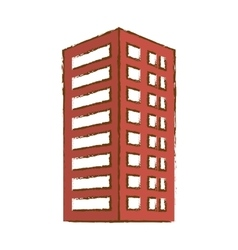 red building line sticker image vector image