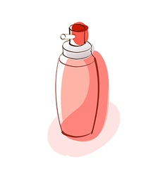 A perfume is placed vector