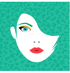 Young beautiful woman face in fashion make up vector