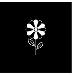Flower solid icon plant nature vector