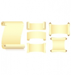 Set of rolls vector