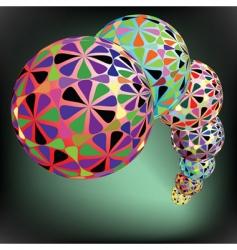 geometric bubbles pattern vector image