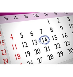 Marked date vector
