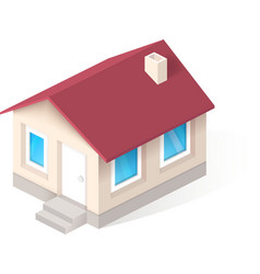 House isometric icon vector