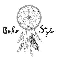 Indian dream catcher boho style vector