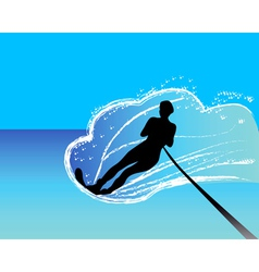 waterskier vector image