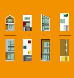 Houses collection modern house vector