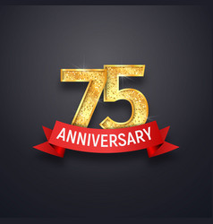 75 th anniversary logo template seventy-five vector image vector image