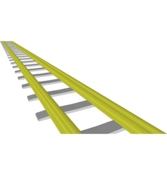 Image yellow railway on white vector