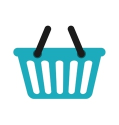 Shopping basket icon shopping and commerce design vector