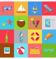 Set of accessories for the summer holidays vector