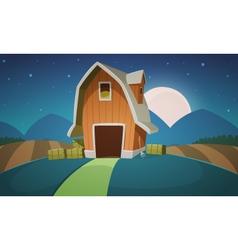 Night Farm Landscape vector image