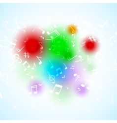 abstract Music notes Colorful musical vector image